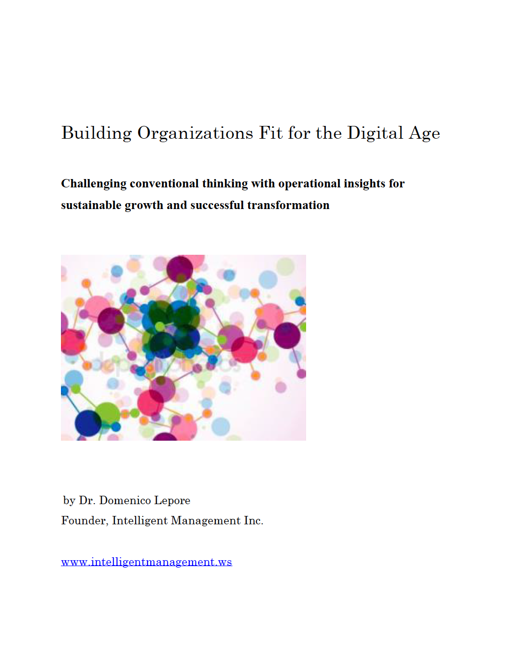 Download our eBOOK 'Building Organizations Fit for the Digital Age'