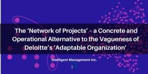 The Network of Projects  –a Concrete and Operational Alternative to Deloitte's 'Adaptable Organization'