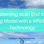 Transforming to an End-to-End Operating Model with a Whole System Technology