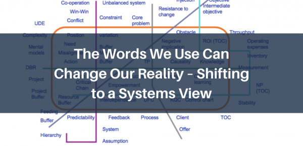 The Words We Use Can Change Our Reality – Shifting to a Systems View
