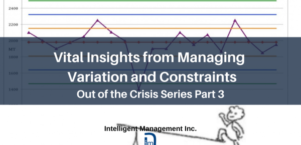 Vital Insights from Managing Variation and Constraints – Out of the Crisis Series Part 3
